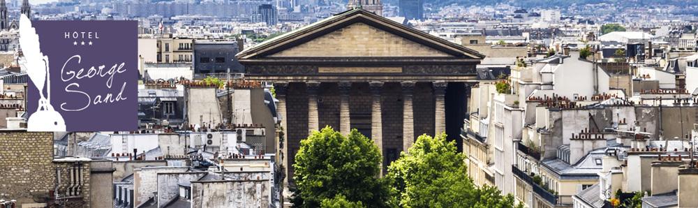Hôtel George Sand – 26 rue des Mathurins – 75009 Paris – Tél : 01 47 42 63 47 – Fax : 01 40 17 04 27 – Email : hotelgeorgesand@orange.fr